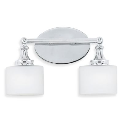 Quinton Bath Light Fixture With Opal Glass and Chrome Finish