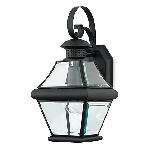 Rutledge Mystic Black Wall Lantern