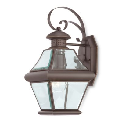 Rutledge Wall Medici Bronze One Light Wall Lantern With Beveled Glass