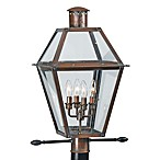 Rue de Royal Outdoor 4-Light Lamp Post in Aged Copper