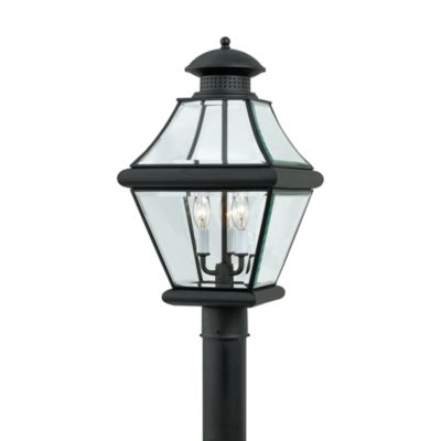 Rutledge Outdoor Post Lantern in Mystic Black by Quoizel®