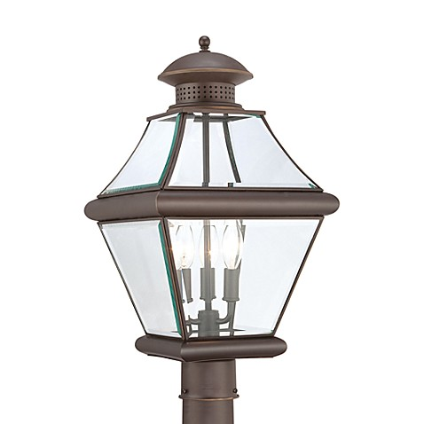 Three Light Lamppost Lantern by Rutledge