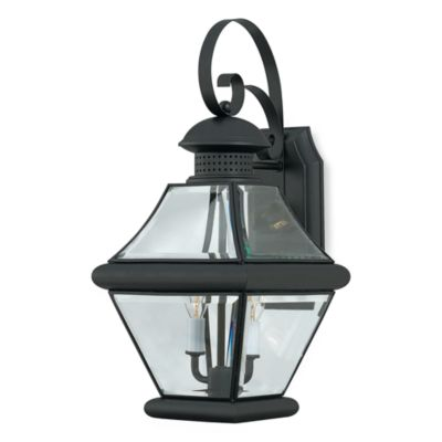 2-Light Mystic Black Rutledge Wall Lantern