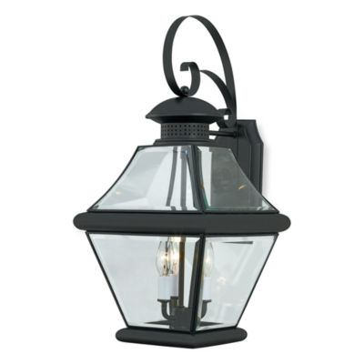 Rutledge Outdoor Wall Mounted Lantern in Mystic Black