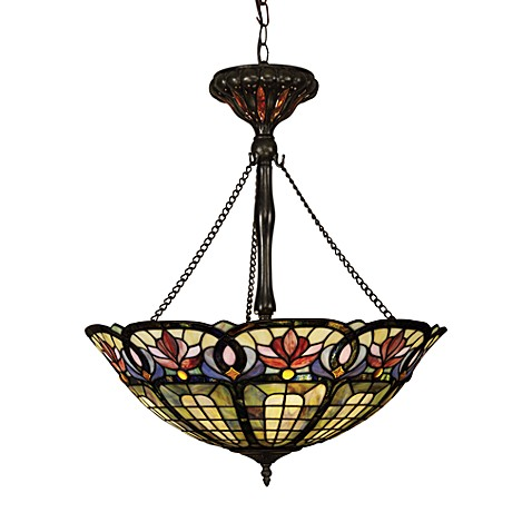 Tiffany Hanging Light Fixtures Buy Tiffany Glass Art Nouveau Pendant Light Fixture From Bed Bath