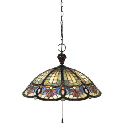 Vintage Bronze/Tiffany Glass