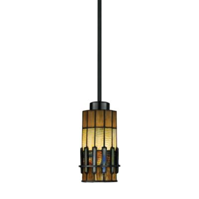 Bronze Pendant Lamp with Tiffany Glass Shade