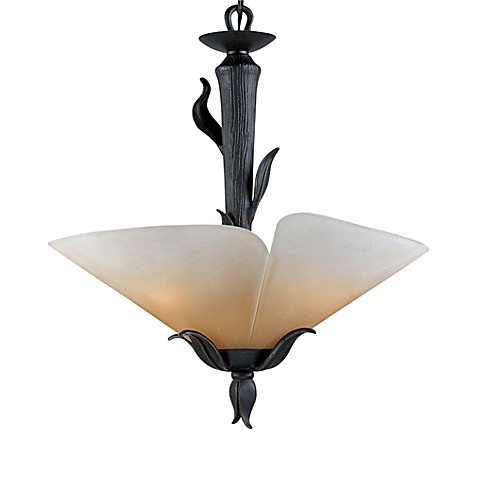 Yuma Pendant Light With Amber Scavo Glass and Imperial Bronze Finish