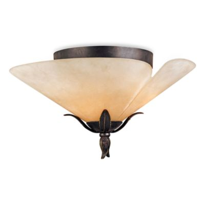 Yuma Flush Ceiling Light With Imperial Bronze Finish by Quoizel®
