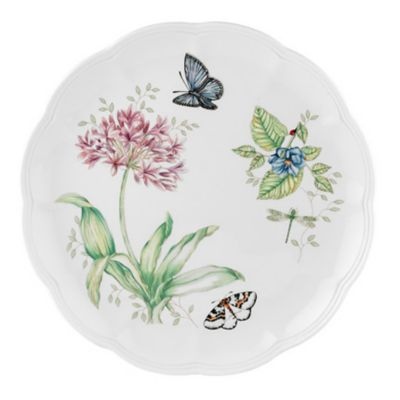 "Butterfly Meadow Blue Butterfly 10 3/4"" Dinner Plate"