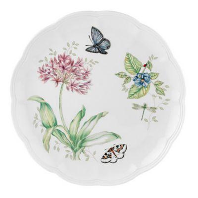 """Butterfly Meadow Blue Butterfly 10 3/4"""" Dinner Plate"""