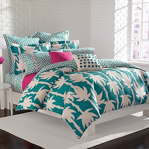 DVF Studio™ Palm Duvet Cover Set, 100% Cotton