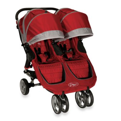 Baby Jogger™ City Mini Double Stroller in Crimson/Gray
