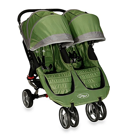 Baby Jogger City Mini Double Stroller In Green Gray