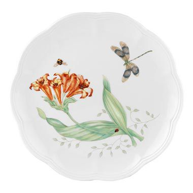 "Butterfly Meadow Dragonfly 9"" Accent Plate"