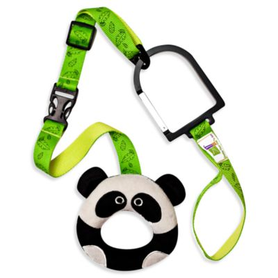 Hold-On Handles Zany Zoo Handle Plush Stroller Accessory in Panda