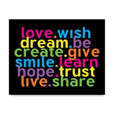 Love Wish Wall Art in Rainbow