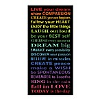 Live Your Dream Wall Art in Rainbow