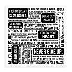 Quote Mix Wall Art in White