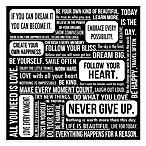 Quote Mix Wall Art in Black