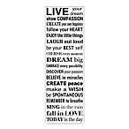 Live Your Dream Wall Art in White