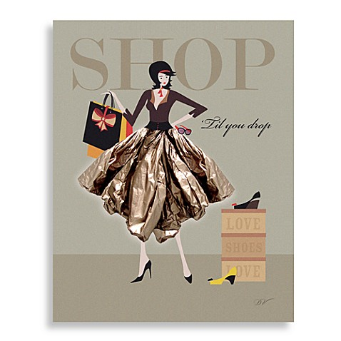Shop Till You Drop Wall Art