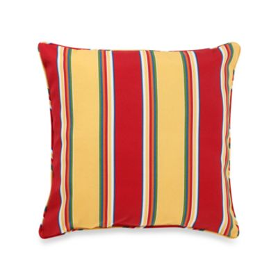 17-Inch Welt Cord Pillow in Haliwell Stripe