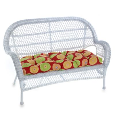 Indoor/Outdoor Settee Cushion in Springdale/Beachside