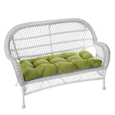 Indoor/Outdoor Settee Cushion in Cambria/Kiwi