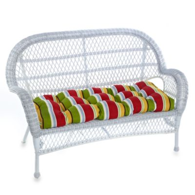 Indoor/Outdoor Settee Cushion in Lofton/Garden