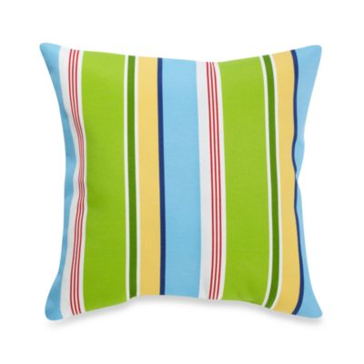 Indoor/Outdoor Knife Edge Throw Pillow in Lofton/Opal