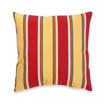 Knife Edge Outdoor Toss Pillow in Haliwell/Stripe