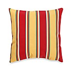 Indoor/Outdoor Knife Edge Throw Pillow in Haliwell/Stripe