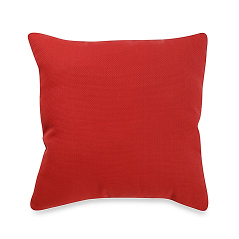 Outdoor 20-Inch Welt Cord Pillow in Cherry