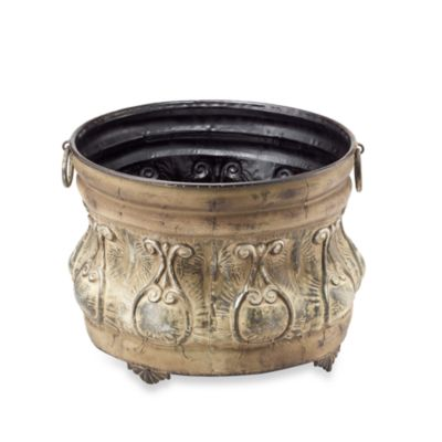 Scroll & Leaf Iron Hose Bowl in Rusted Tan