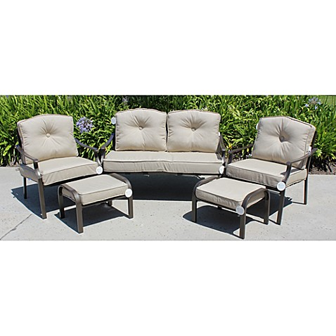 Solarium® Outdoor 9-Piece Seat Cushion Set in Linen