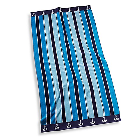 Buy Ocean Stripe Oversized Beach Towel From Bed Bath Amp Beyond