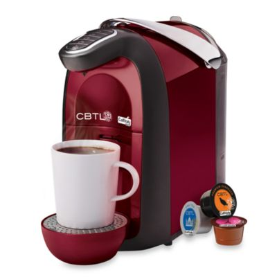 The Coffee Bean and Tea Leaf® CBTL™ Single Serve Beverage Machine in Red