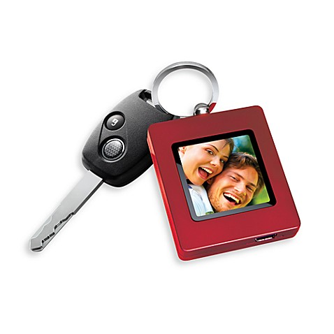 The Sharper Image® Digital Photo Keychain in Red