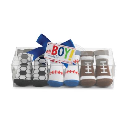 Mud Pie™ Size 0 to 12 Months Sports Ball Socks (Set of 3)
