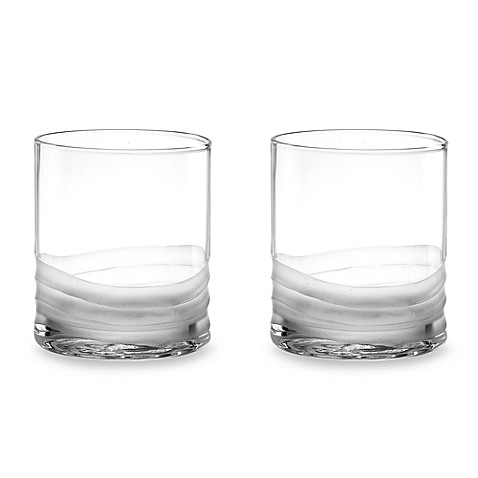 Donna Karan Lenox® Wave 12 3/4-Ounce Double Old Fashioned Glasses (Set of 2)