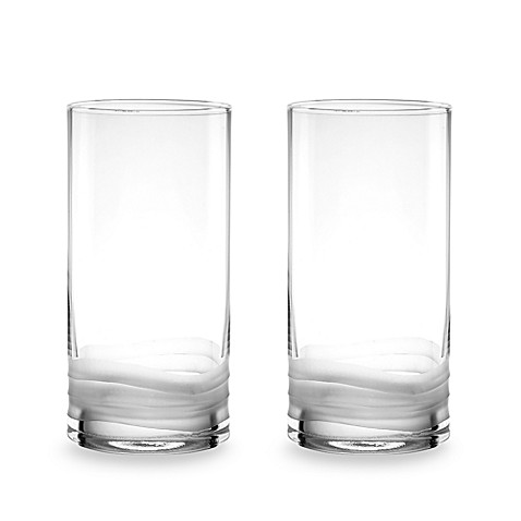 Donna Karan Lenox® Wave 17 3/4-Ounce Highball Glasses (Set of 2)