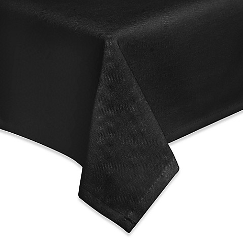 Eugenia Linens Basic Essentials Premium Banquet 90-Inch x 156-Inch Tablecloth in Black (Set of 6)