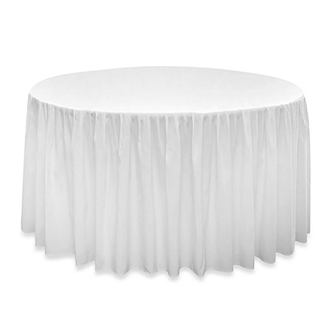 Banquet Solutions Elastic Fitted 3-Sided 96-Inch Shirred Tablecloth (Set of 6)