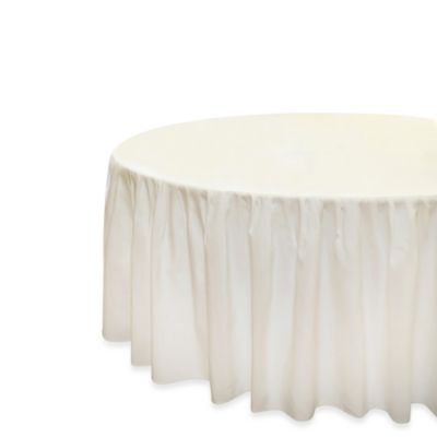 Eugenia Linens Everyday Banquet Solutions Fitted Round Shirred Tablecloth (Set of 6)
