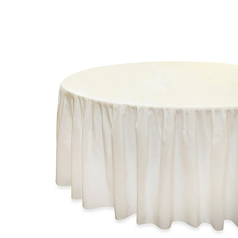 "Everyday Banquet Solutions Elastic Fitted 48"" Round Shirred Tablecloth (Set of 6)"