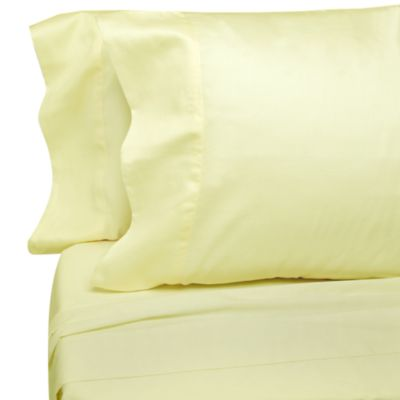 Classic Bedding Solid Cotton 250 Sateen Standard Pillowcases in Ivory (Set of 12)
