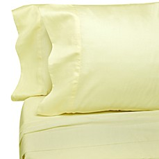 Eugenia Linens Classic Sateen Flat Sheets in Ivory (Set of 12)