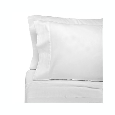 Classic Bedding White Solid Cotton 250 Sateen King Fitted Sheets (Set of 12)