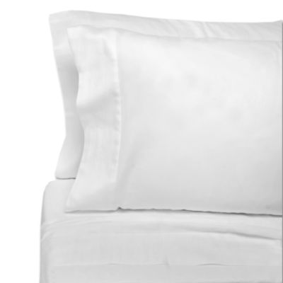 Eugenia Linens Classic Bedding Cotton Sateen Full Flat Sheets in White (Set of 12)